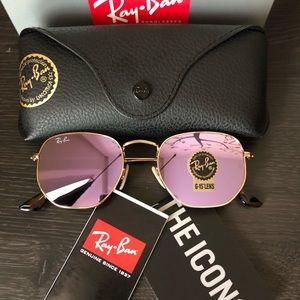 💯NEW💯 RayBan Hexagonal Lilac Mirror Lens RB3548N
